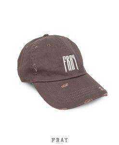 Distressed Brown Tour Cap | Fray London